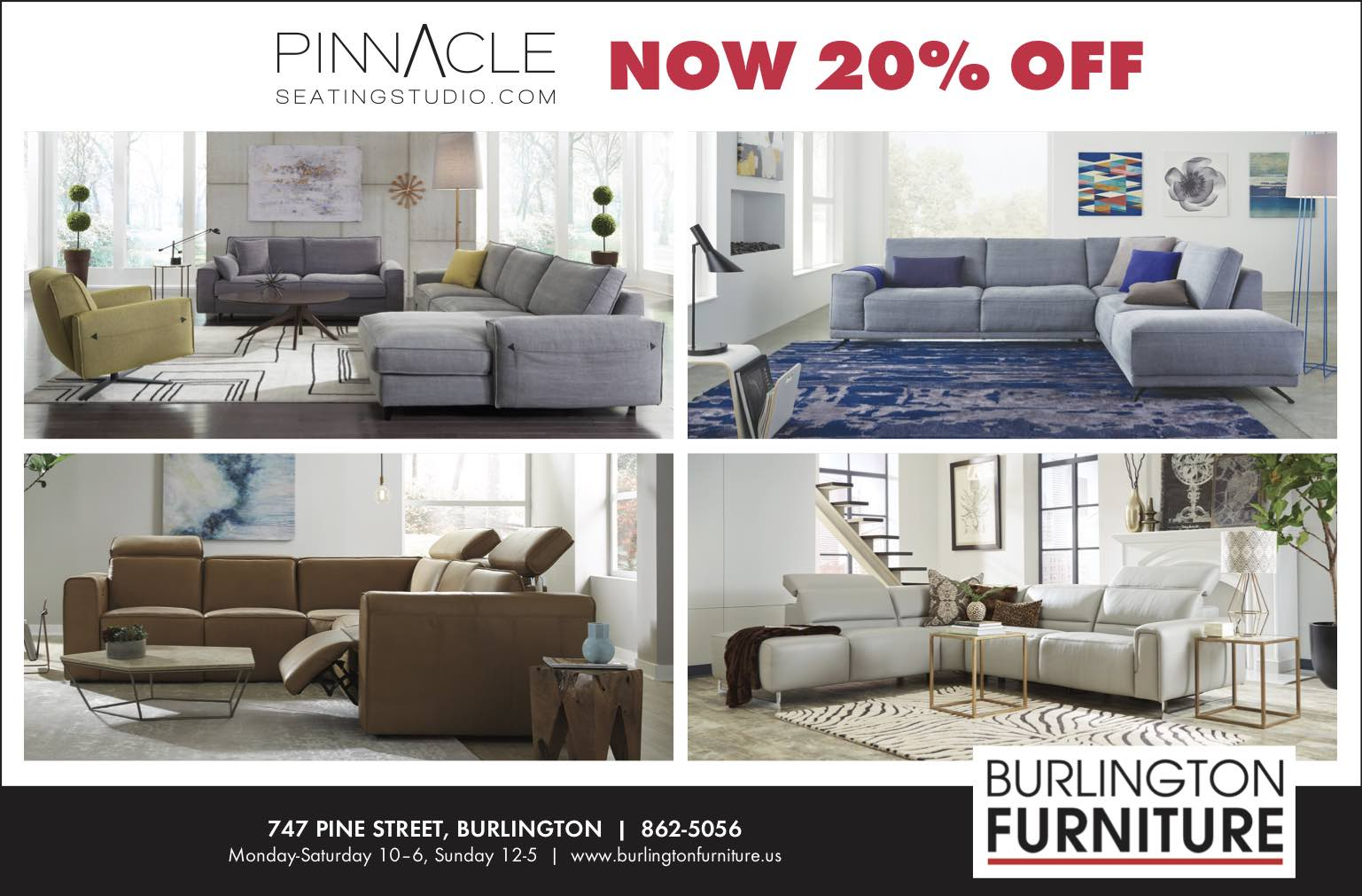 Pinnacle 4 2018 Burlington Furniture