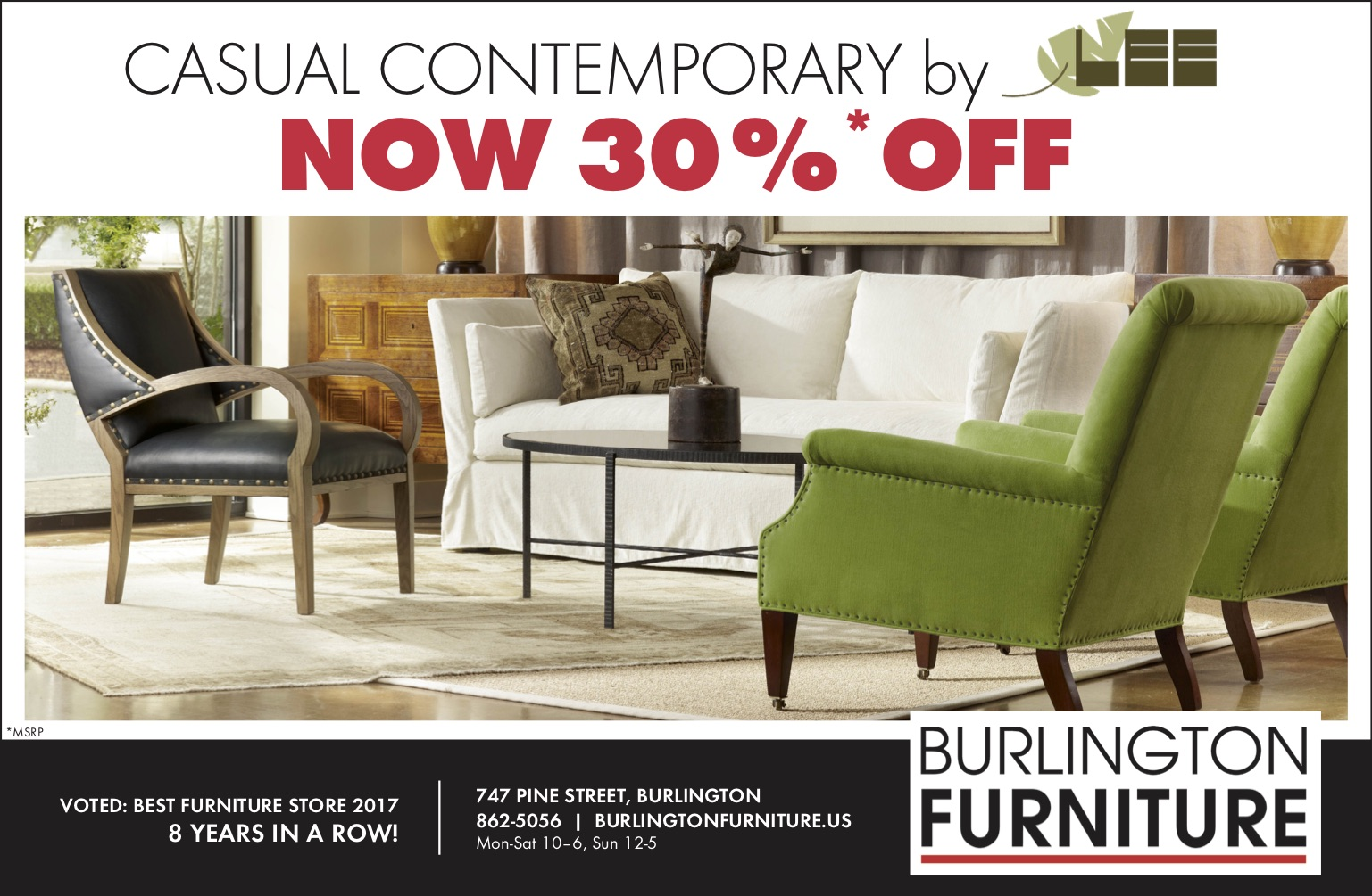 Casual Contemporary June Burlington Furniture