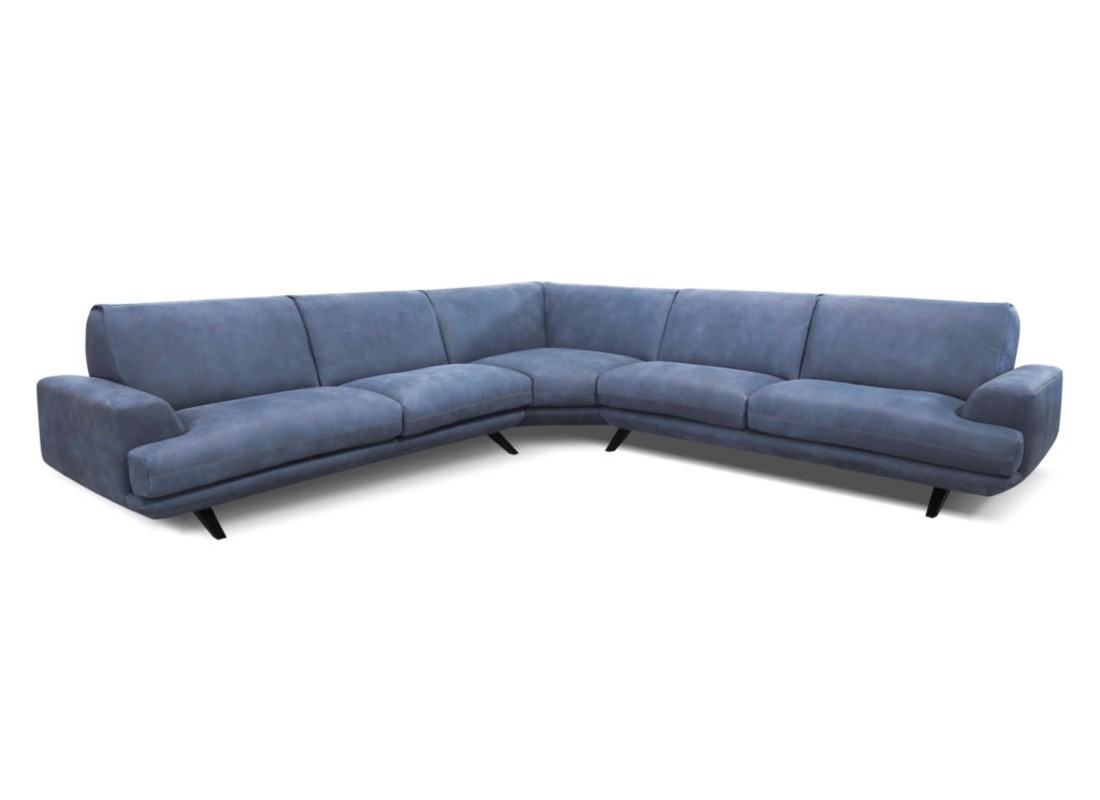 blue leather sectional sofa