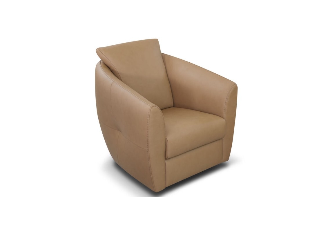 beige leather bubble chair