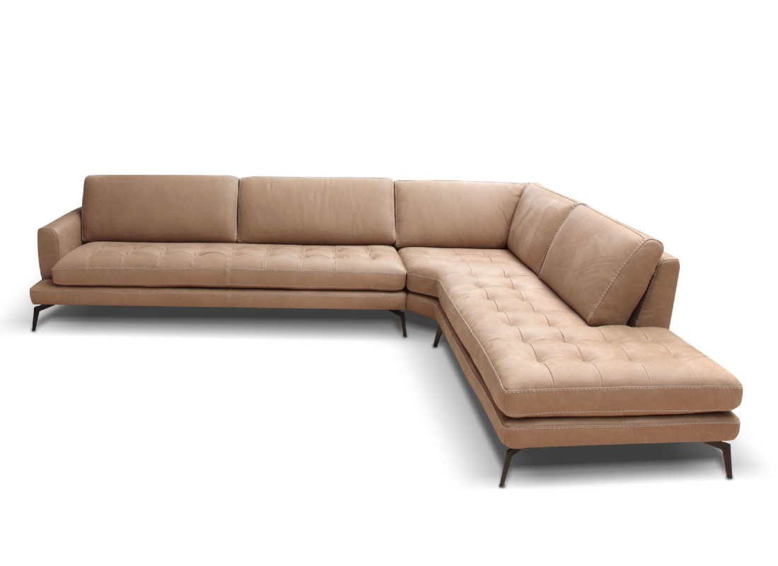 leather beige sectional sofa